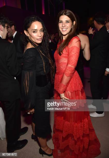 Lisa Bonet and Marisa Tomei attend the 2018 Vanity Fair Oscar Party hosted by Radhika Jones at Wallis Annenberg Center for the Performing Arts on...