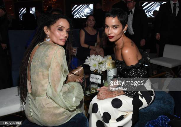 Lisa Bonet and Zoë Kravitz attend The 2020 InStyle And Warner Bros 77th Annual Golden Globe Awards PostParty at The Beverly Hilton Hotel on January...