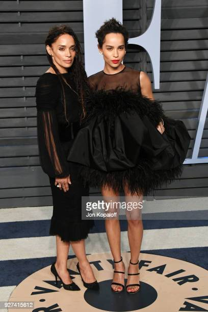 Lisa Bonet and Zoe Kravitz attend the 2018 Vanity Fair Oscar Party hosted by Radhika Jones at Wallis Annenberg Center for the Performing Arts on...