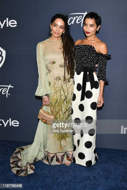 Lisa Bonet and Zoe Kravitz attend the 21st Annual Warner Bros. And InStyle Golden Globe After Party at The Beverly Hilton Hotel on January 05, 2020...
