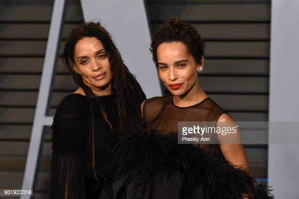 Lisa Bonet and Zoe Kravitz attends the 2018 Vanity Fair Oscar Party Hosted By Radhika Jones Arrivals at Wallis Annenberg Center for the Performing...