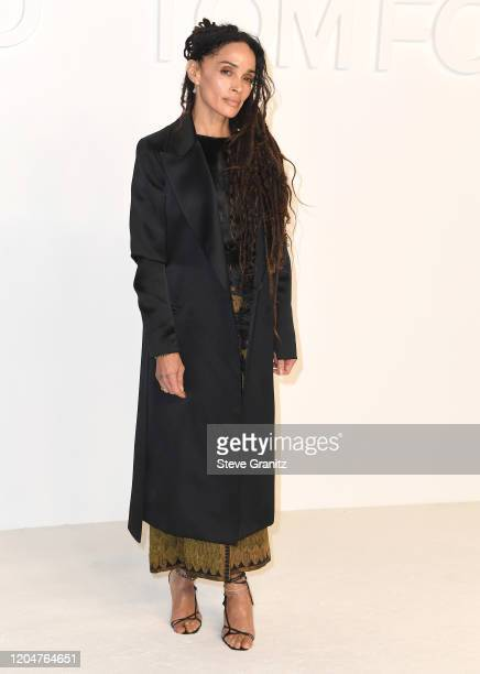 Lisa Bonet arrives at the Tom Ford AW20 Show at Milk Studios on February 07 2020 in Hollywood California
