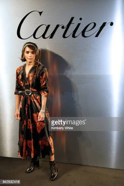 Lisa Bonet attends Cartier celebration of the launch of Santos de Cartier Watch at Pier 48 on April 5 2018 in San Francisco California