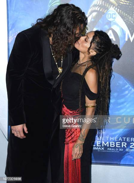 Lisa Bonet Jason Momoa arrives at the Premiere Of Warner Bros Pictures' Aquaman at TCL Chinese Theatre on December 12 2018 in Hollywood California