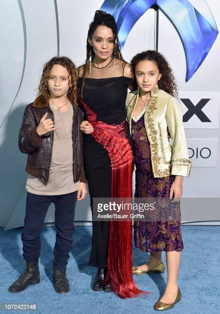 Lisa Bonet NakoaWolf Manakauapo Namakaeha Momoa and Lola Iolani Momoa attend the premiere of Warner Bros Pictures' 'Aquaman' at TCL Chinese Theatre...
