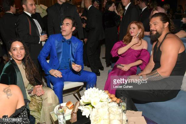 Lisa Bonet Sacha Baron Cohen Isla Fisher and Jason Momoa attend The 2020 InStyle And Warner Bros 77th Annual Golden Globe Awards PostParty at The...
