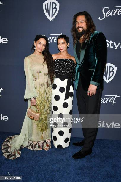 Lisa Bonet Zoë Kravitz and Jason Momoa attend the 21st Annual Warner Bros And InStyle Golden Globe After Party at The Beverly Hilton Hotel on January...