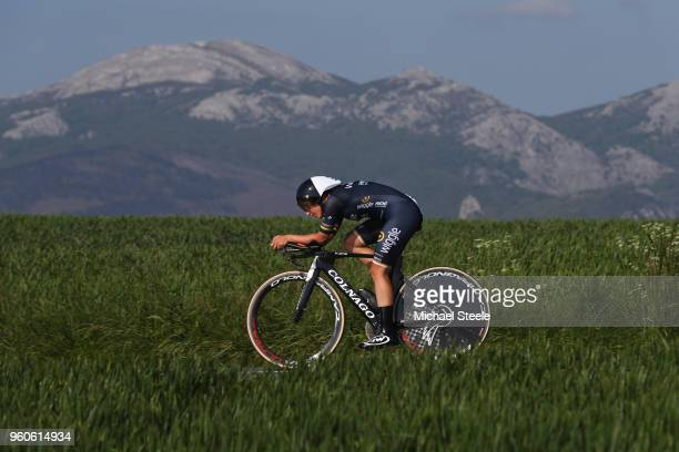 Lisa Brennauer of Germany and Team Wiggle High5 during the 31st Women WT EmakumeenBira Stage 2 266km Individual Time Trial from Agurain to Gastetz on...