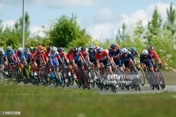 Lisa Brennauer of Germany and Team WNT - Rotor Pro Cycling / Ellen van Dijk of The Netherlands and Team Trek - Segafredo / Chantal Blaak of The...