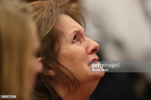 Lisa Brown the mother of Joshua K Messier reacts after Plymouth Superior Court Judge Jeffrey A Locke acquitted prison guards John Raposo Derek Howard...