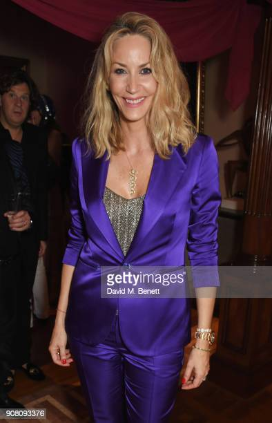 Lisa Butcher attends Lisa Tchenguiz's birthday party on January 20 2018 in London England