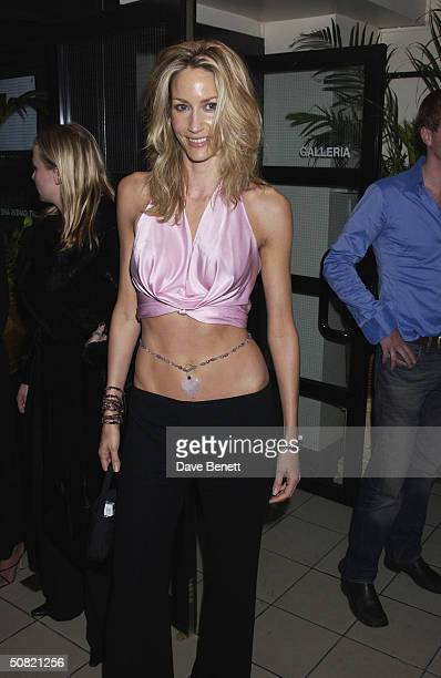 Lisa Butcher attends the Jimmy Choo New Store Opening Party at Harvey Nichols Department Store on September 11, 2002 in London.