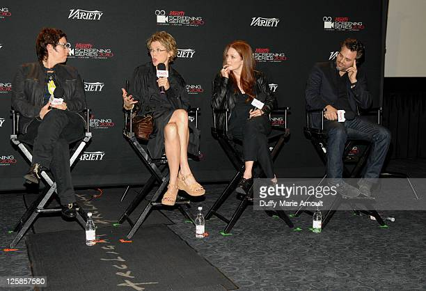 Lisa Cholodenko Annette Bening Julianne Moore and Mark Ruffalo attend Variety's Los Angeles Screening Series The Kids Are All Right at ArcLight...