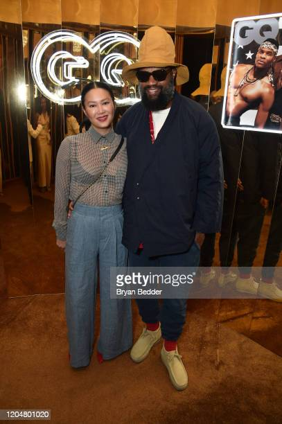 Lisa Chu and Coltrane Curtis attend the GQ March Cover Party at The Standard Highline on March 01 2020 in New York City