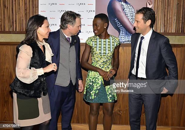 Lisa Cohen Jason Binn Lupita Nyong'o and Jon Steinberg attend DuJour Magazine's Jason Binn celebrates Lupita Nyong'o cover with Scott Sartiano and...
