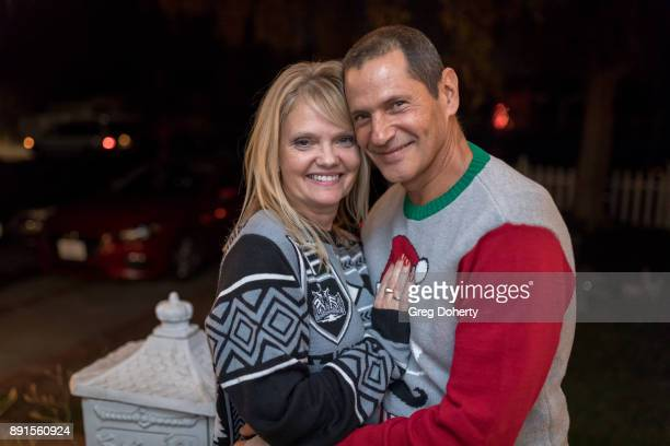 Lisa Collabro and Tomas Collabro attend The Bay Ugly Sweater And Secret Santa Christmas Party at Private Residence on December 12 2017 in Los Angeles...