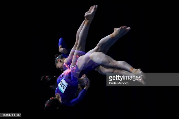 Lisa Conraide of South Africa competes in Women's Balance Beam Qualification during Day 4 of Buenos Aires 2018 Youth Olympic Games at America...