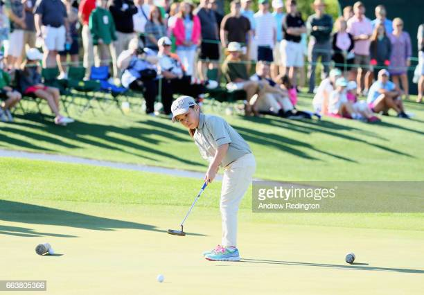 Lisa Copeland participant in the 79 Girls in action during the Drive Chip and Putt Championship at Augusta National Golf Club at Augusta National...