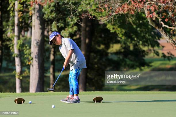 Lisa Copeland putts during the Drive Chip and Putt Championship at The Honors Course on September 24 2017 in Ooltewah Tennessee