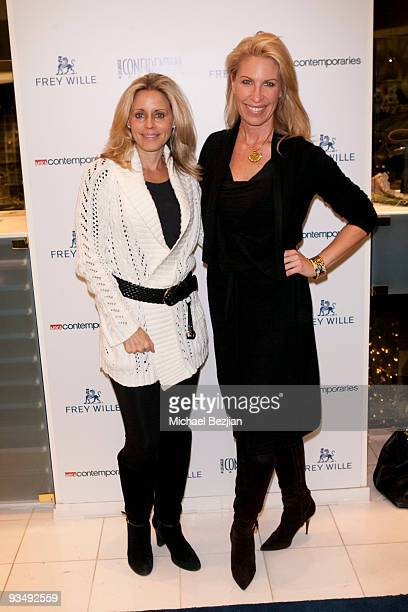 Lisa Corcoran and Jennifer Schirg attend the Frey Wille's New Fall/Winter Collection Must Haves on November 29 2009 in Santa Monica California