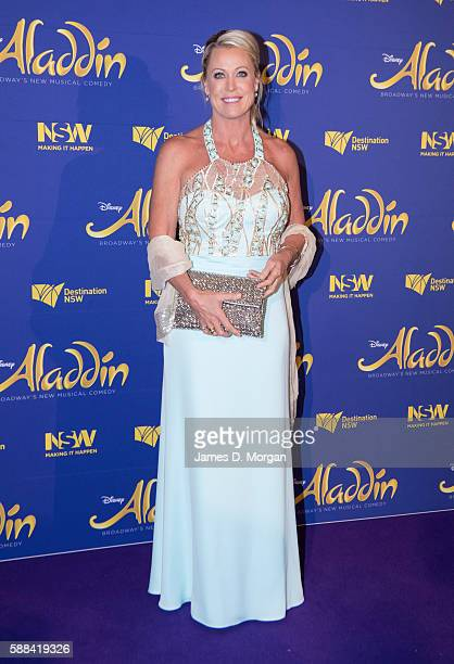 Lisa Curry arrives at the Opening Night of Disney's Aladdin at the Capitol Theatre on August 11 2016 in Sydney Australia