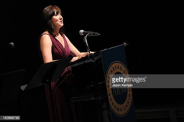 Lisa D' Amour speaks at The 2011 Steinberg Playwright Mimi Awards presented by The Harold and Mimi Steinberg Charitable Trust at Lincoln Center...