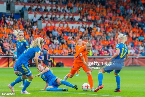 Lisa Dahlkvist of Sweden women Linda Sembrant of Sweden women Kosovare Asllani of Sweden women Vivianne Miedema of Holland Women Caroline Seger of...
