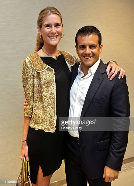 Lisa Davis and jewelry designer Amedeo Scognamiglio attend a personal appearance by Faraone Mennella at Saks Fifth Avenue on October 1 2009 in Los...