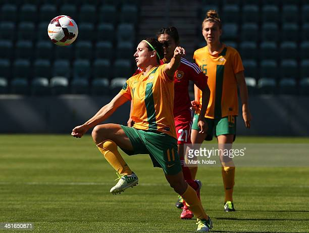 Lisa De Vanna of Australia in action during the match between the Australian Matildas and China PR at WIN Stadium on November 24, 2013 in Wollongong,...