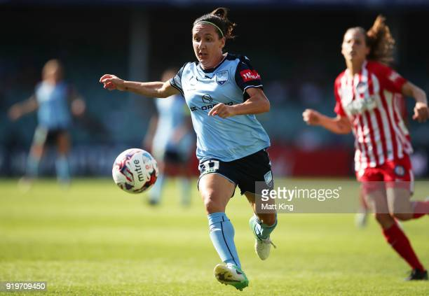 Lisa De Vanna of Sydney FC controls the ball during the WLeague Grand Final match between Sydney FC and Melbourne City FC at Allianz Stadium on...