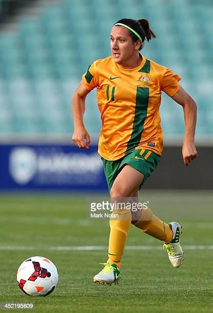 Lisa De Vanna of the Matildas in action during the Women's International Friendly match between the Australian Matildas and China PR at Parramatta...
