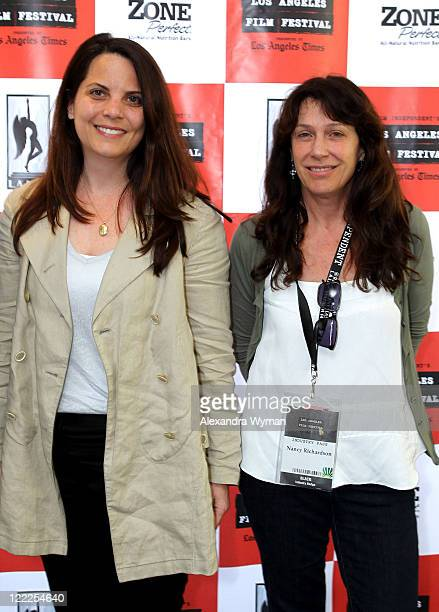 Lisa Dennis and Nancy Richardson attend the 'Technicolor: One Vision From Set To Screen' during the 2010 Los Angeles Film Festival at Regal Cinemas...