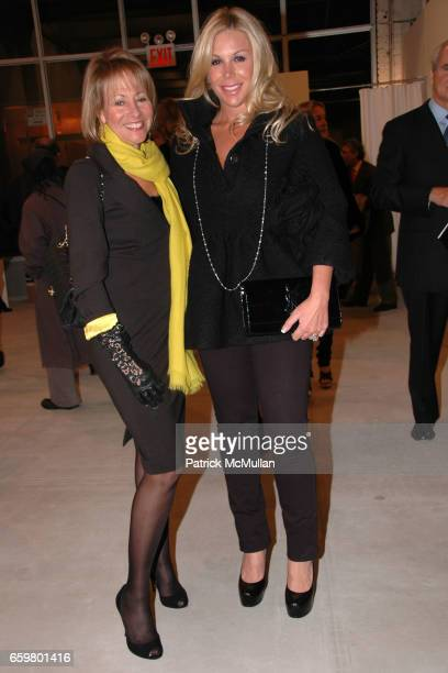 Lisa Dennison and Amy Phelan attend RACHEL HOVNANIAN opening reception POWER BURDEN OF BEAUTY at Jason McCoy Gallery on November 5 2009 in New York...