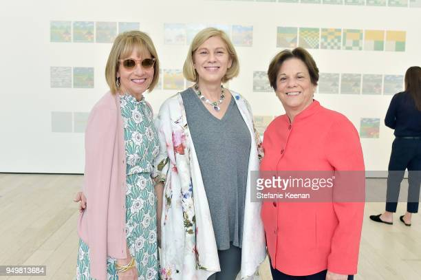 Lisa Dennison LACMA Curator Wendy Kaplan and LACMA Curator Stephanie Barron attend LACMA 2018 Collectors Committee Breakfast and Curator...