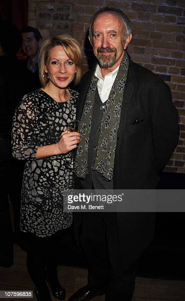 Lisa Dillon and Jonathan Pryce attend the afterparty following the press night of 'A Flea In Her Ear' at Vinopolis on December 14 2010 in London...