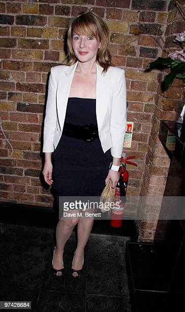 Lisa Dillon and other celebrities attend the Private Lives press night after party at Jewell bar London on March 03 2010