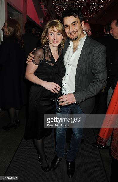 Lisa Dillon and Tim Arnold attend the Almeida 2010 Fundraising Gala at the Almeida Theatre on March 14 2010 in London England