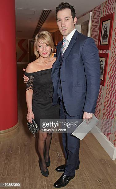 Lisa Dillon arrives at Ham Yard Hotel for the After Party of The Old Vic's A Gala Celebration in Honour of Kevin Spacey on April 19 2015 in London...