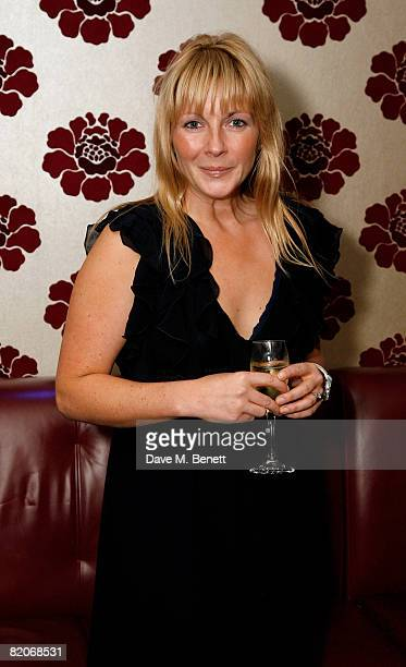 Lisa Dillon attends the after party following the press night of Under The Blue Sky at Studio Valbonne on July 25 2008 in London England