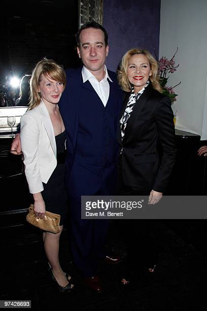 Lisa Dillon Matthew Macfadyen Kim Cattrall and other celebrities attend the Private Lives press night after party at Jewell bar London on March 03...