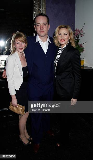 Lisa Dillon Matthew Macfadyen Kim Cattrall attend the Private Lives press night after party at Jewell bar London on March 03 2010