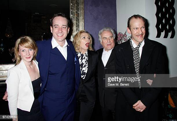 Lisa Dillon Matthew Macfadyen Kim Cattrall Simon Paisley Day attend the Private Lives press night after party at Jewell bar London on March 03 2010