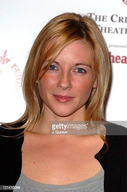 Lisa Dillon winner for Most Promising Newcomer during The 2003 Critics Circle Theatre Awards at The Theatre Royal Drury Lane in London Great Britain