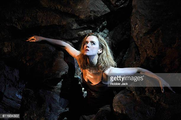 Lisa Dwan in Samuel Beckett's No's Knife directed by Joe Murphy at The Old Vic Theatre on September 30, 2016 in London, England.