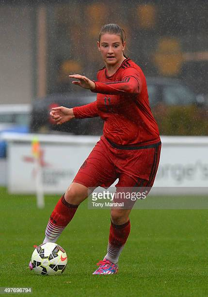 Lisa Ebert of Germany during Women's U16s International Friendly match between England U16s Women and Germany U16s Women at St Georges Park on...