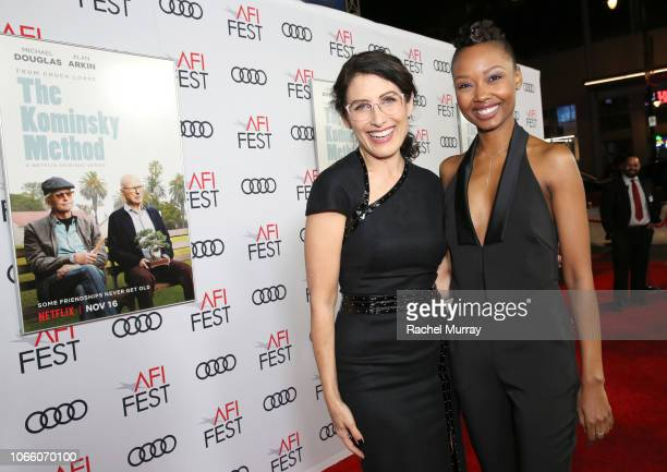 Lisa Edelstein and Ashleigh LaThrop attend the Los Angeles Premiere of 'The Kominsky Method ' at AFI Fest at TCL Chinese Theatre on November 10 2018...