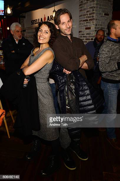 Lisa Edelstein and Jeff Baena attend Stella Artois Filmmaker Lounge presents Joshy supper on January 23 2016 in Park City Utah