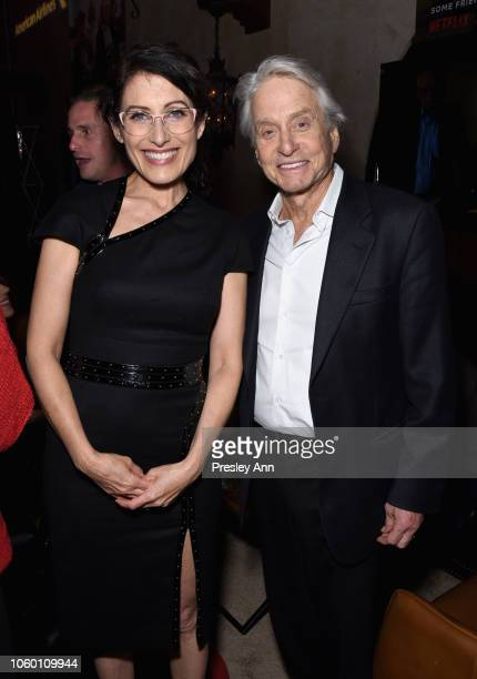 Lisa Edelstein and Michael Douglas attend the after party for the Gala Screening of 'The Kominsky Method' at AFI FEST 2018 Presented By Audi at on...