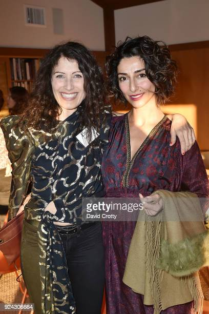 Lisa Edelstein and Necar Zadegan attend A Conversation with the Center for Reproductive Rights at Private Residence on February 25 2018 in Los...