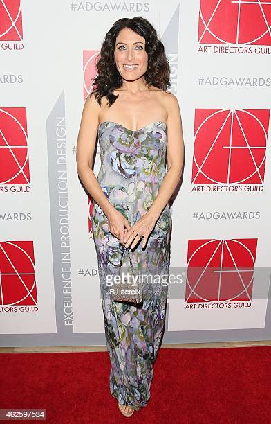 Lisa Edelstein arrives at the 19th Annual Art Directors Guild Excellence In Production Design Awards at The Beverly Hilton Hotel on January 31 2015...